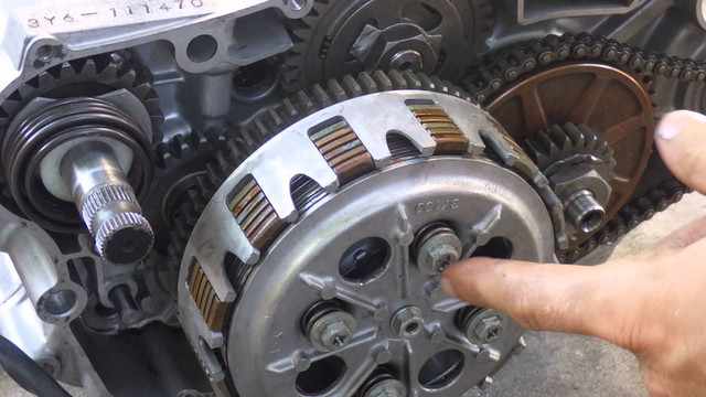 Replace the clutch shoes, don't wait for new wear to replace