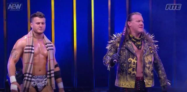 Chris Jericho y MJF vencen a Santana y Ortiz y Sammy y Jake Hager AEW 20 Enero
