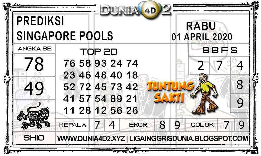 Prediksi Togel SINGAPORE DUNIA4D2 01 APRIL 2020