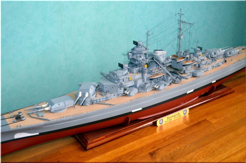 Bismarck au 1/200eme - Maquette Hachette/Amati Bismarck-09
