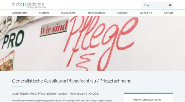 Webseite meco-akademie-gesundheit.de
