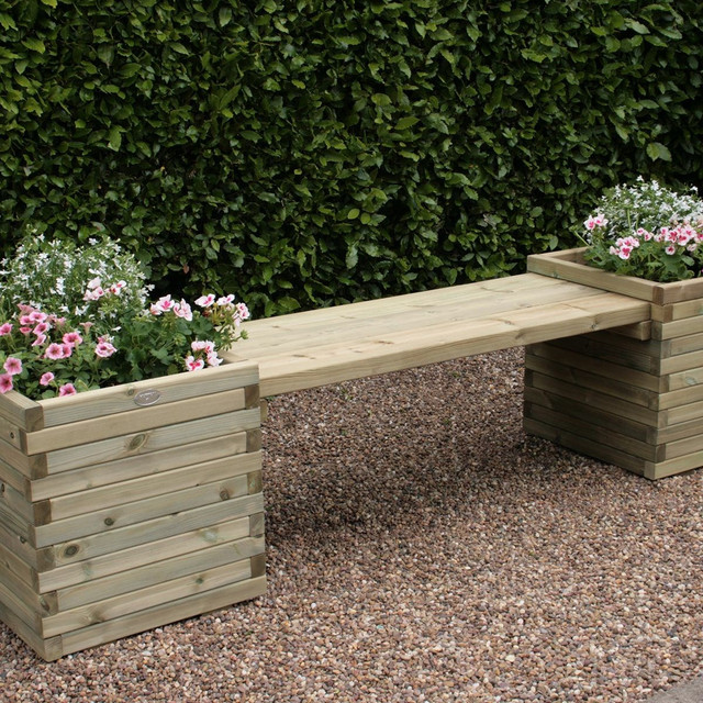 wooden-bench-with-planters-13466