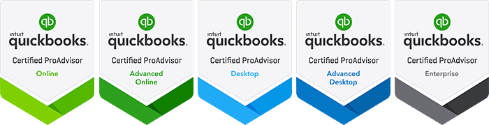 QuickBooks Certfied ProAdvisor Badges