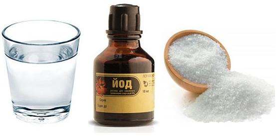 Полоскание солью и йодом