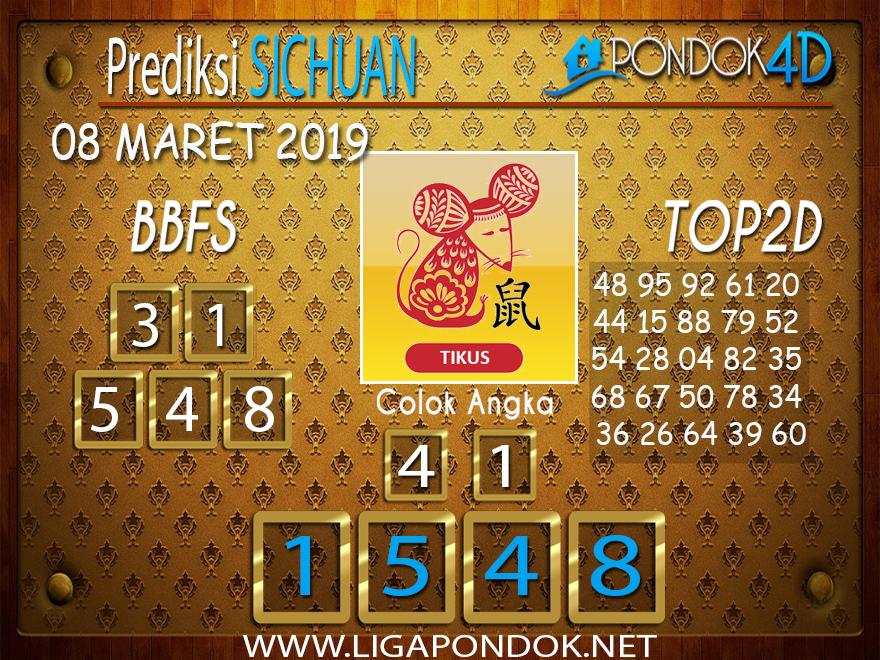 Prediksi Togel SICHUAN PONDOK4D 08 MARET 2019