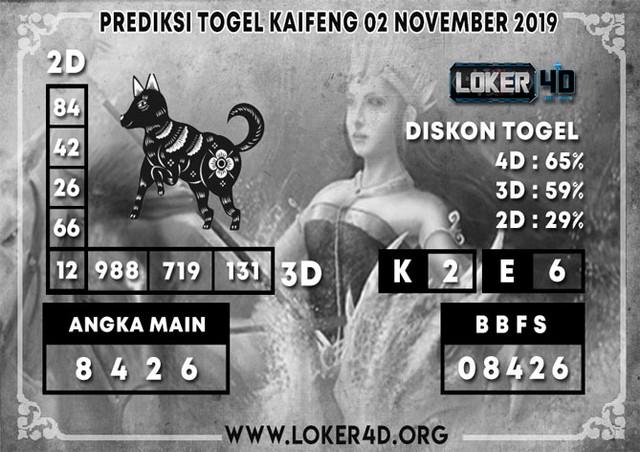 PREDIKSI TOGEL KAIFENG LOKER4D 02 NOVEMBER 2019