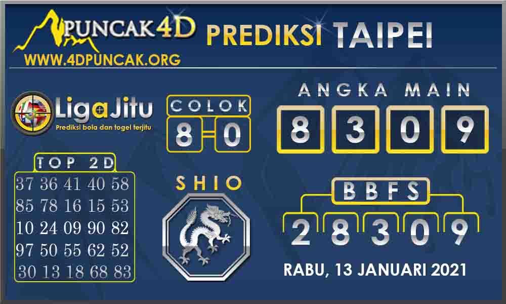 PREDIKSI TOGEL TAIPEI PUNCAK4D 13 JANUARI 2021