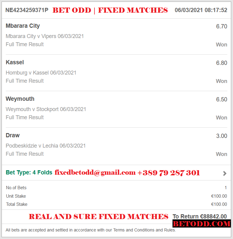 BET ODD COMBINED FIXED MATCHES