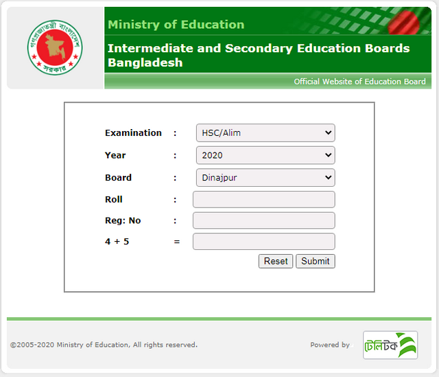 HSC-Result-Dinajpur-Board-2020-Dinajpur-Education-Board-Result
