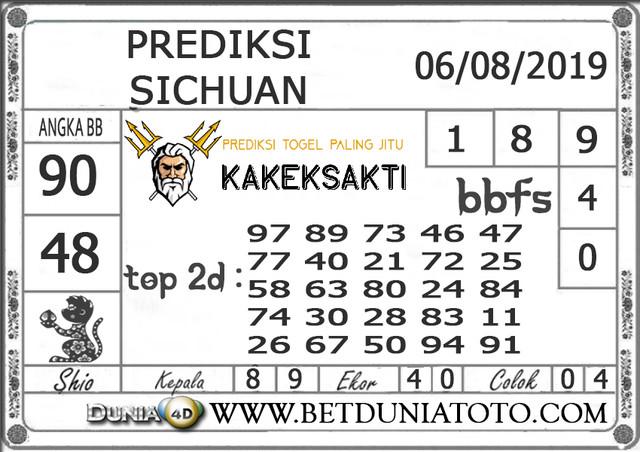 """Prediksi Togel """"SICHUAN"""" DUNIA4D 06 AGUSTUS 2019"""