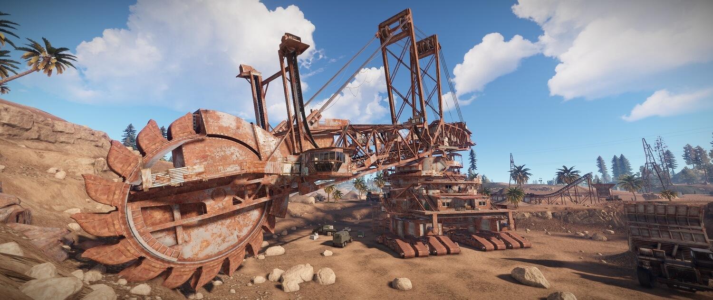Rust - Гигантский экскаватор, где найти, как добывать руду?