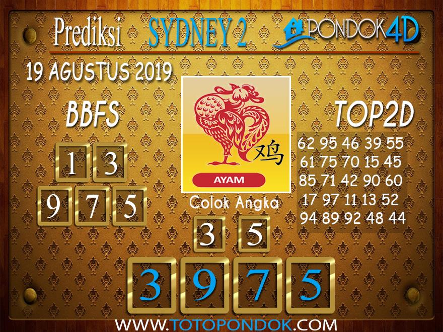 Prediksi Togel SYDNEY 2 PONDOK4D 19 AGUSTUS 2019