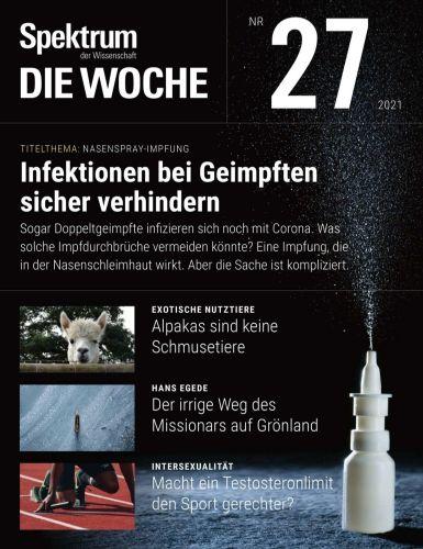Cover: Spektrum Die Woche Magazin No 27 vom 08  Juli 2021