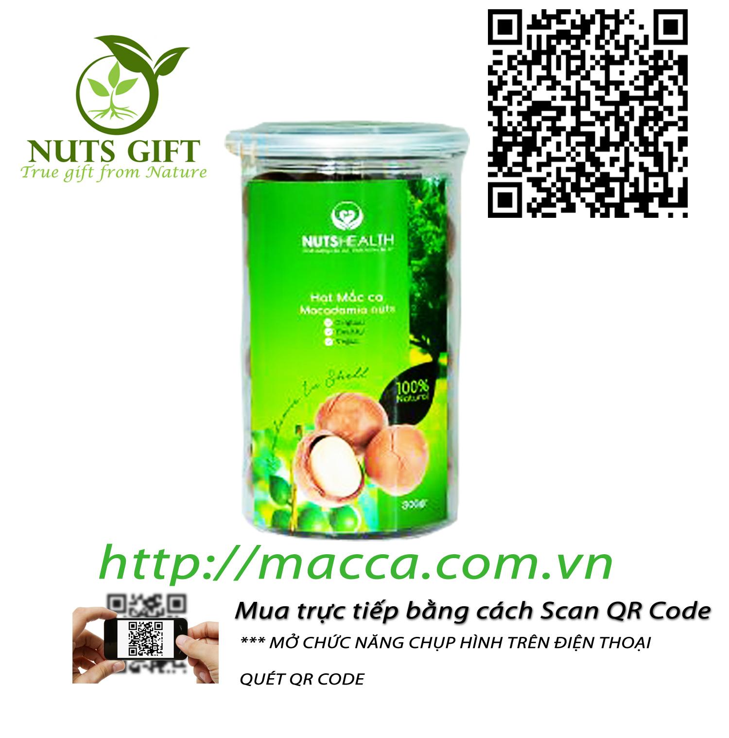 HẠT MACCA ÚC – NUTSHEALTH – 300 GR