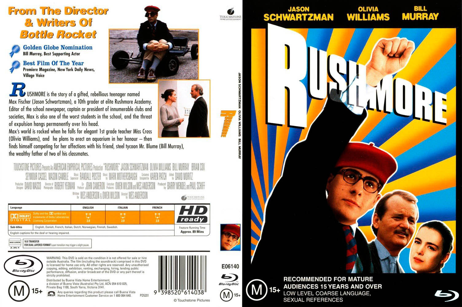 Tres Son Multitud [Rushmore] (1998) x264 1080p