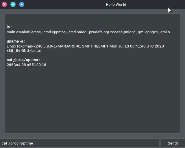 Test Qml Bash App