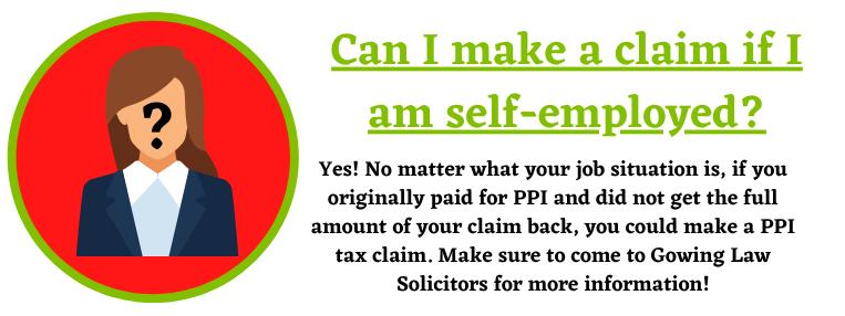 self-employed PPI tax claims