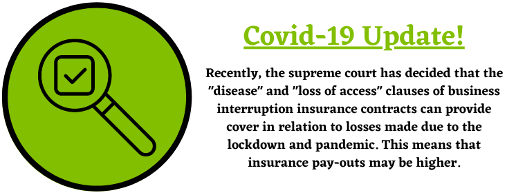 Covid-19 Update about business interruption insurance