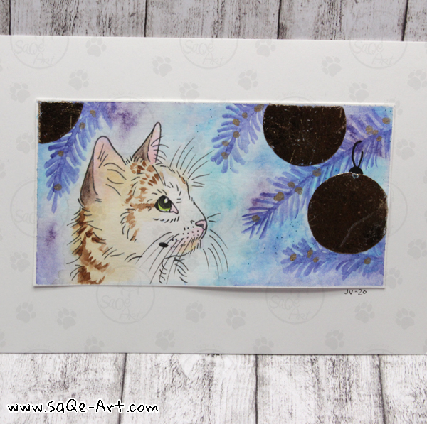 Cat Christmas - SaQe-Art.com