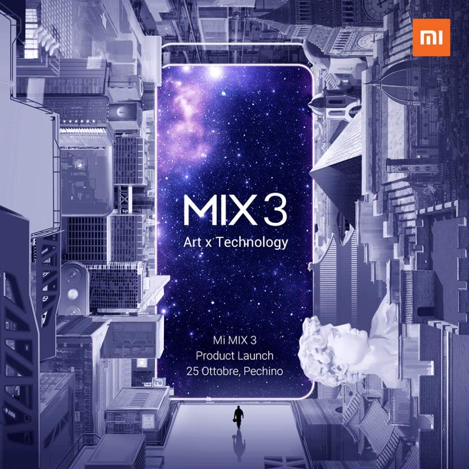 Xiaomi will launch Mi MIX 3