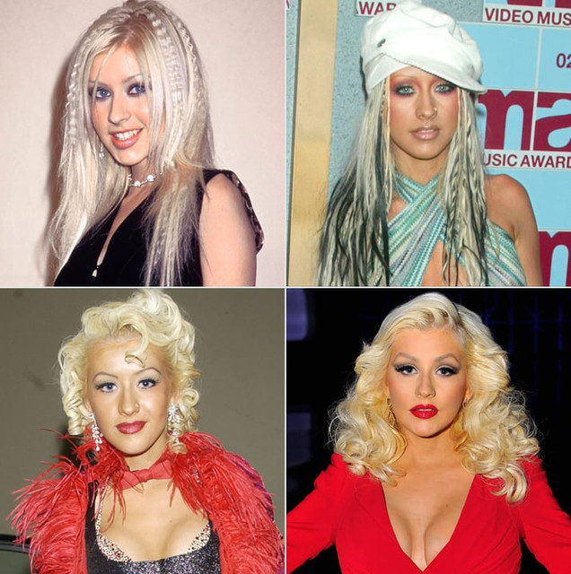 Силке Ф - Вопросы и ответы с форума. Pictures-Christina-Aguilera-Through-Years