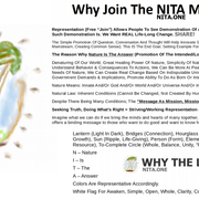"All In One WIDE Flyer/Sheet For ""Nature Is The Answer"" NITA.ONE"