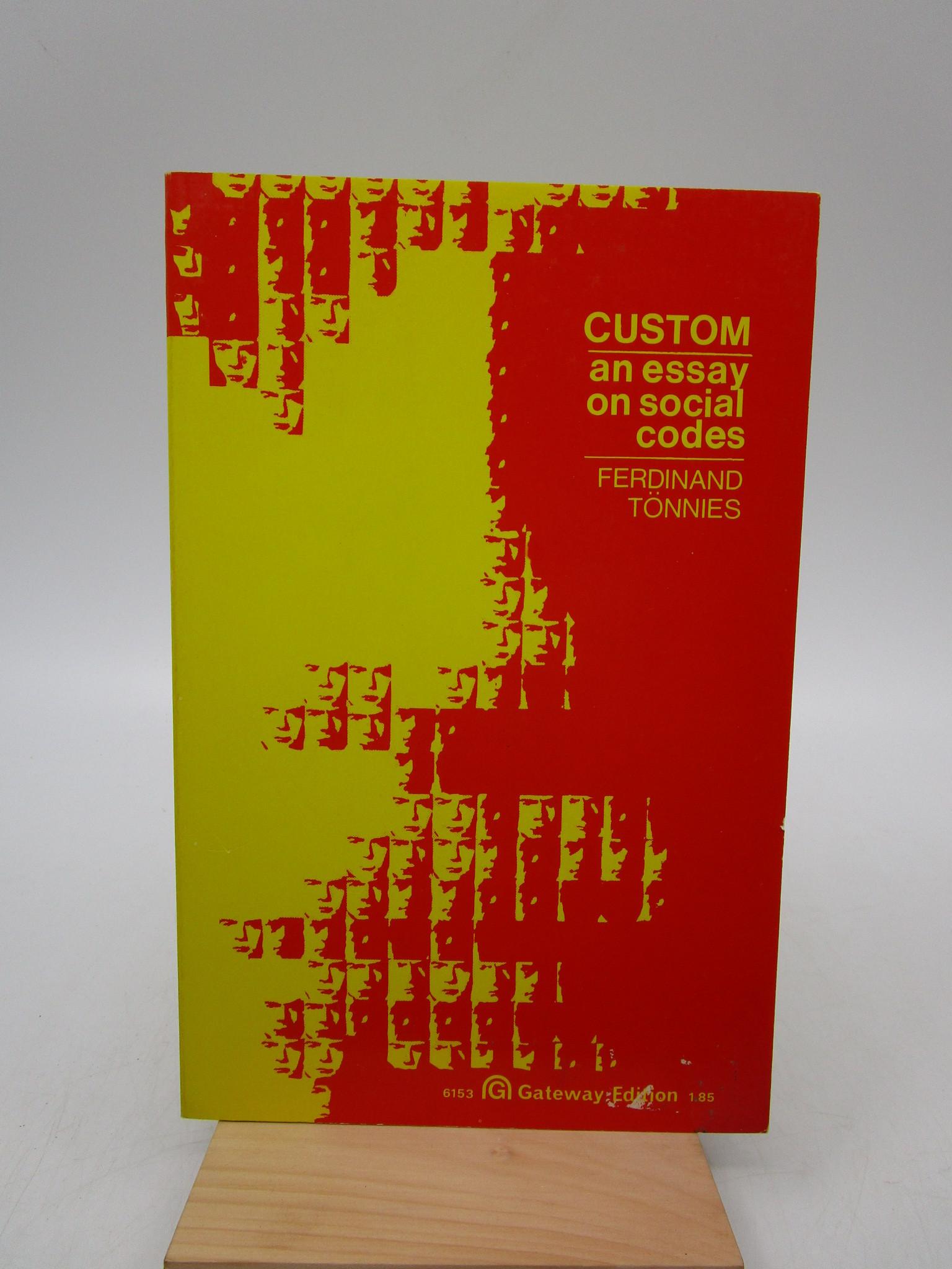 Image for Custom: An Essay on Social Codes