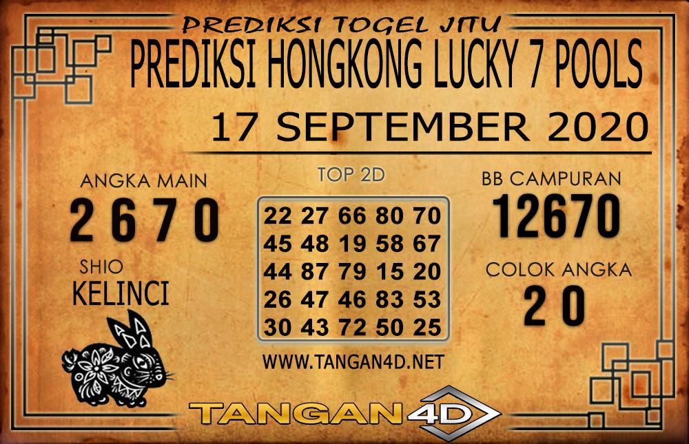 PREDIKSI TOGEL HONGKONG LUCKY 7 TANGAN4D 17 SEPTEMBER 2020
