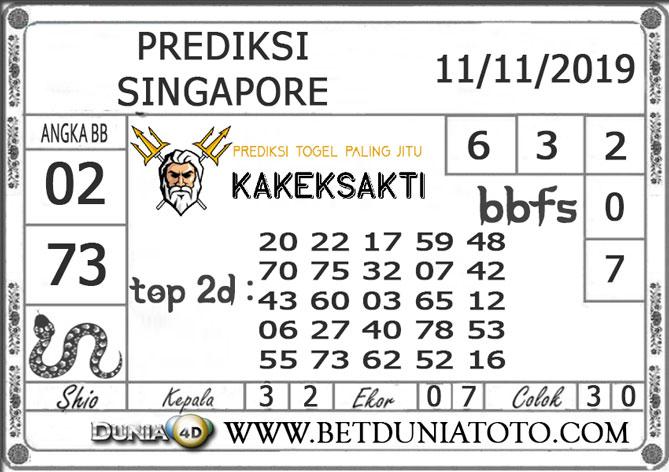 """Prediksi Togel """"SINGAPORE"""" DUNIA4D 11 NOVEMBER 2019"""