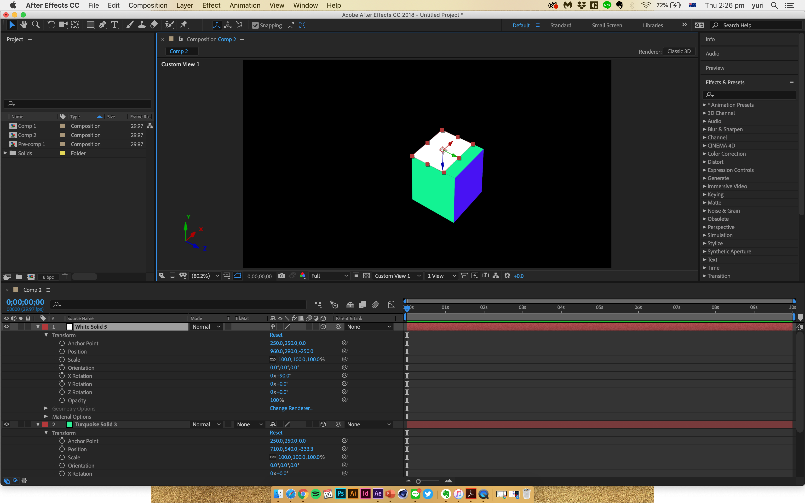 3d cube issue