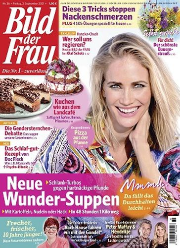Cover: Bild der Frau Magazin No 36 vom 03  September 2021