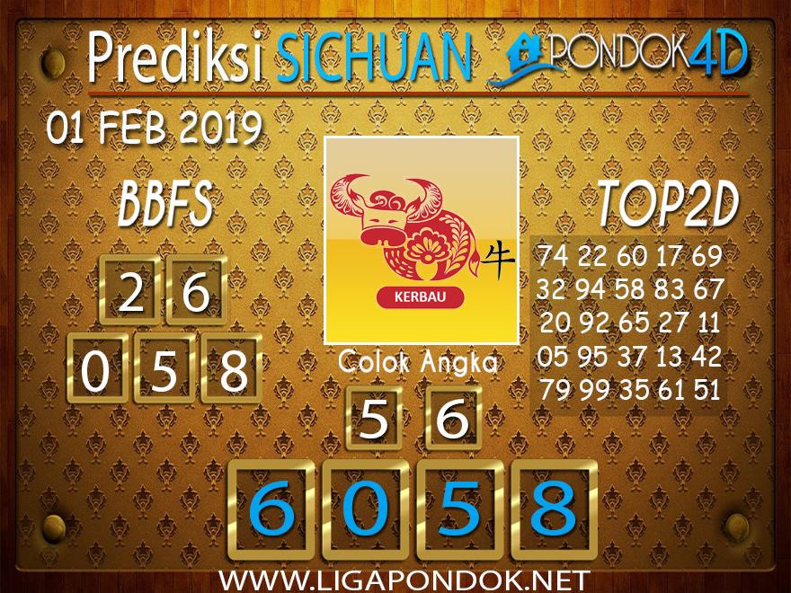 Prediksi Togel SICHUAN PONDOK4D 01 FEBRUARI 2019