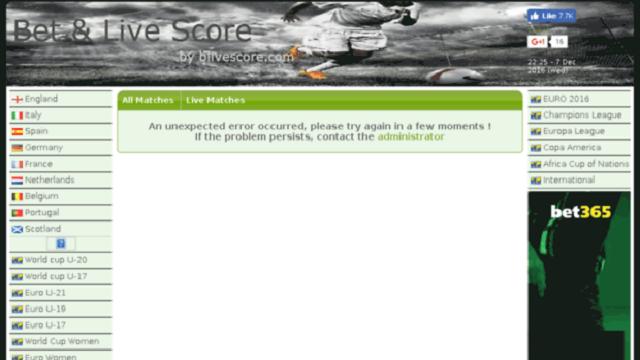 Penyebab Situs Livescore Error Dan Cara Mengatasinya!