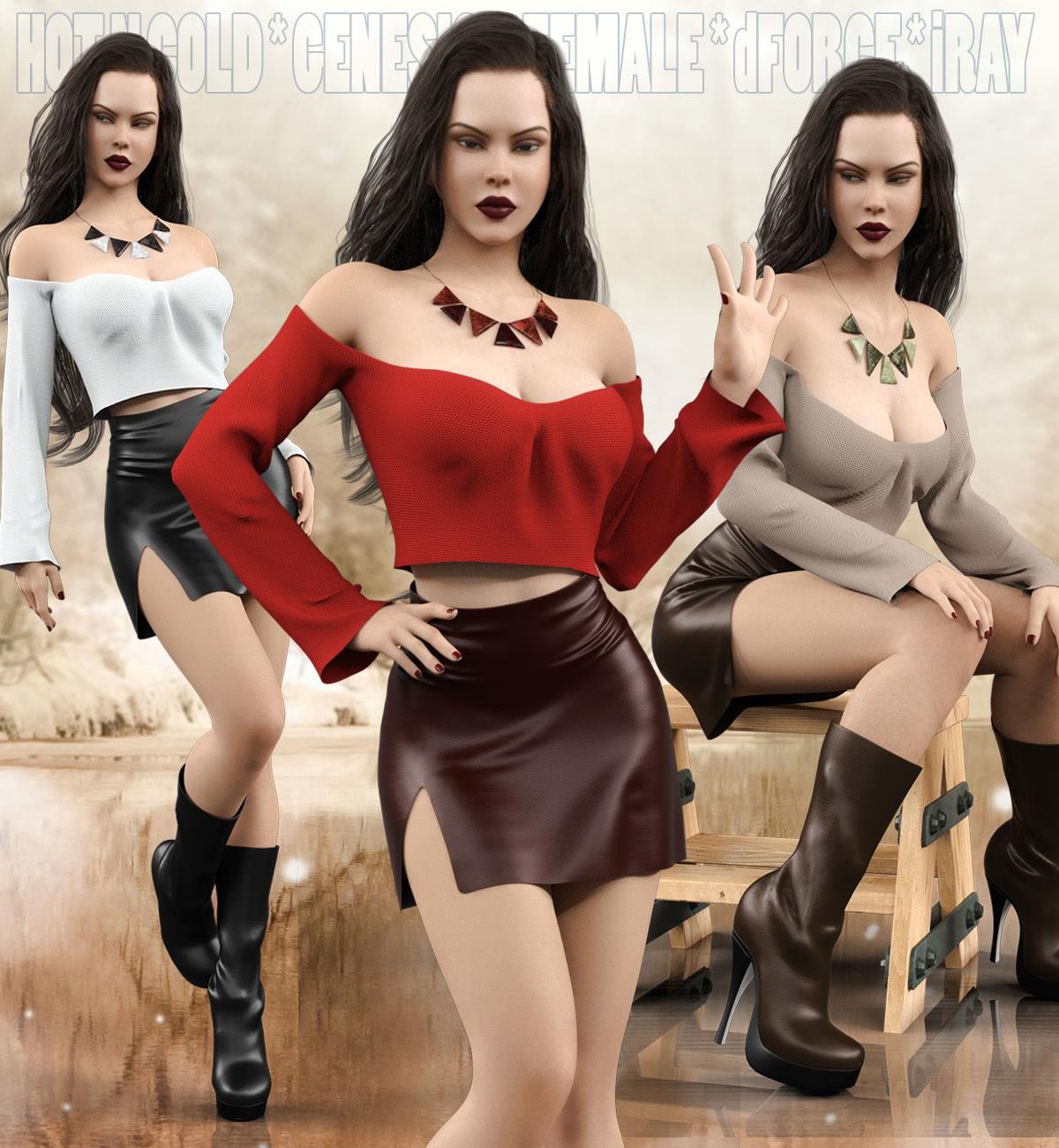 Hot Work Costume Set for Genesis 8 Females(s)