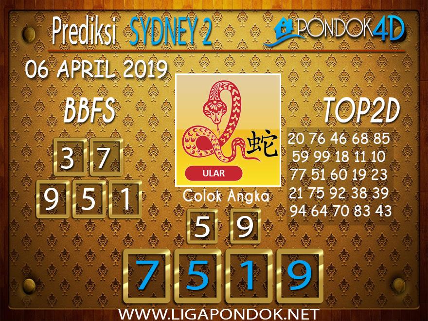 Prediksi Togel SYDNEY 2 PONDOK4D 06 APRIL 2019