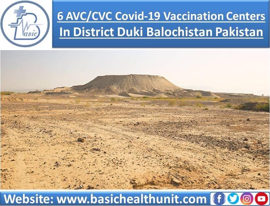 6 AVC/CVC Covid-19 Vaccination Centers In District Duki Balochistan Pakistan