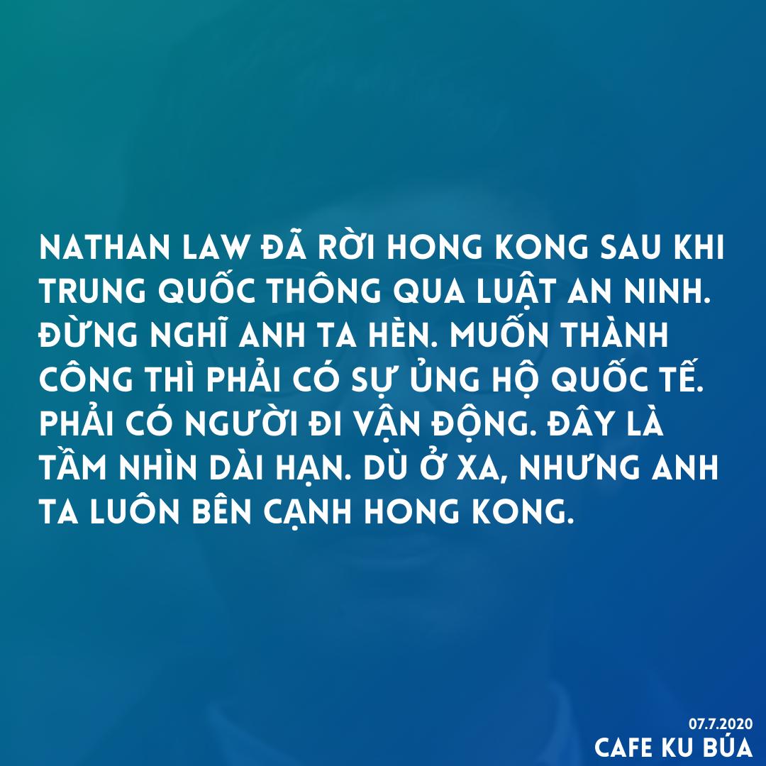NATHAN LAW RỜI HONG KONG NHƯNG KHÔNG ĐẦU HÀNG