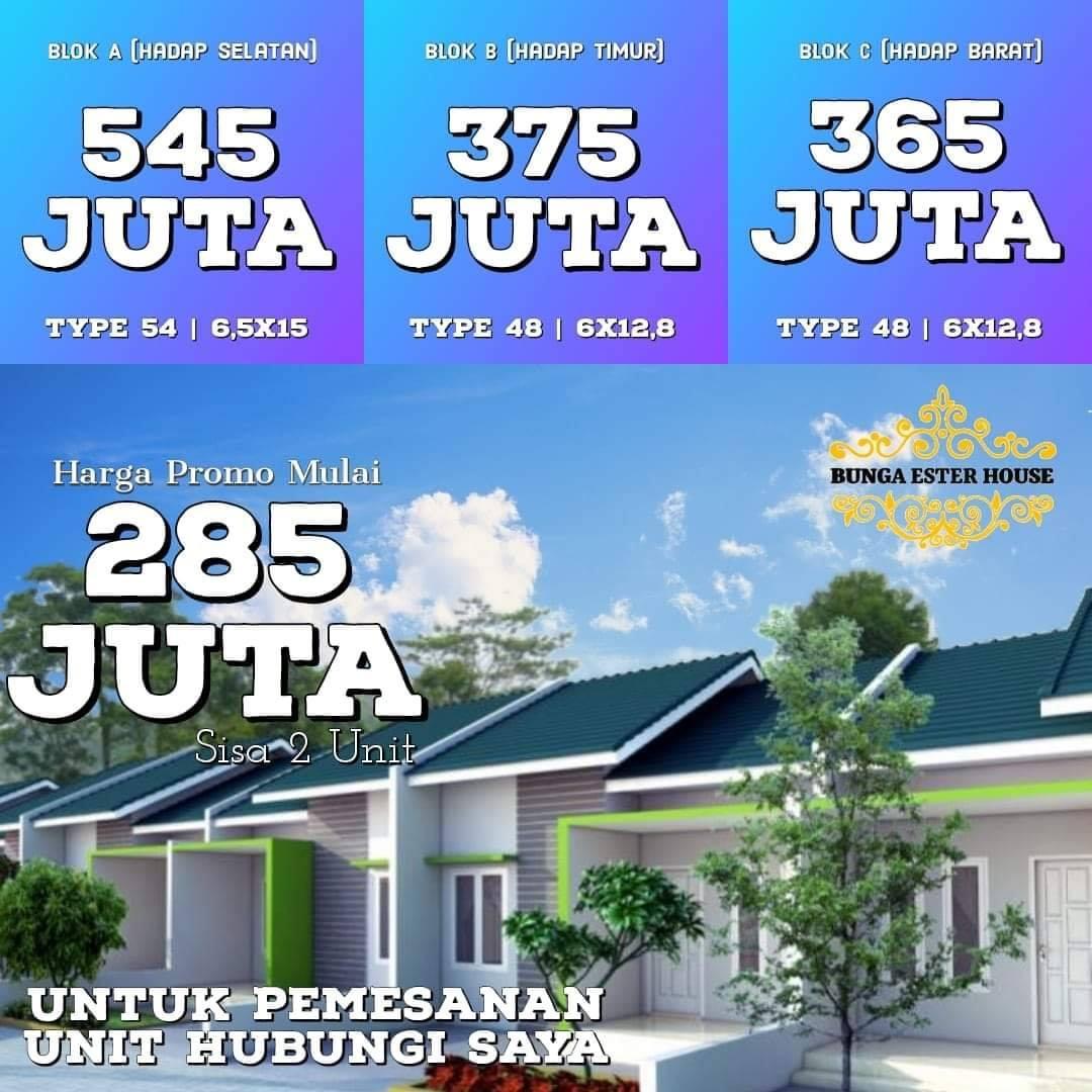 Rumah Murah 200 jutaan di Jl. Bunga Ester dekat Kampus USU Padang Bulan Medan - Bunga-Ester House