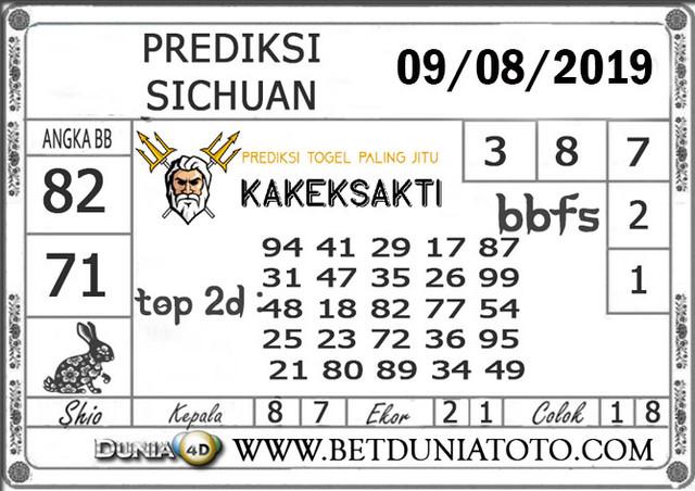 """Prediksi Togel """"SICHUAN"""" DUNIA4D 09 AGUSTUS 2019"""