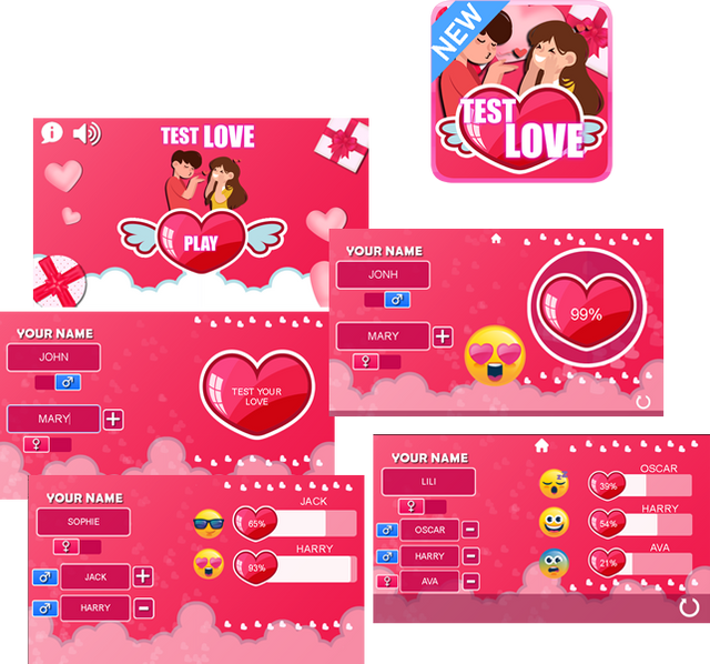 Test Love - HTML5 Game (CAPX) - 1