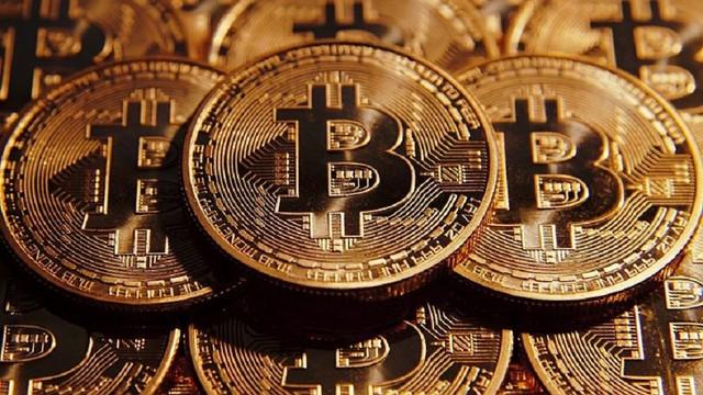 Graphic Bitcoin coins