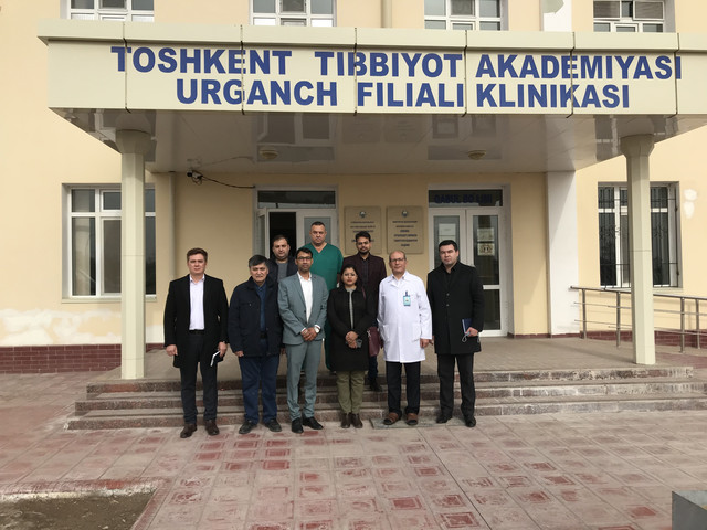 """Representatives of the company """"Bloomphase service"""" of the Republic of India visited the clinic of Urgench branch of TMA"""