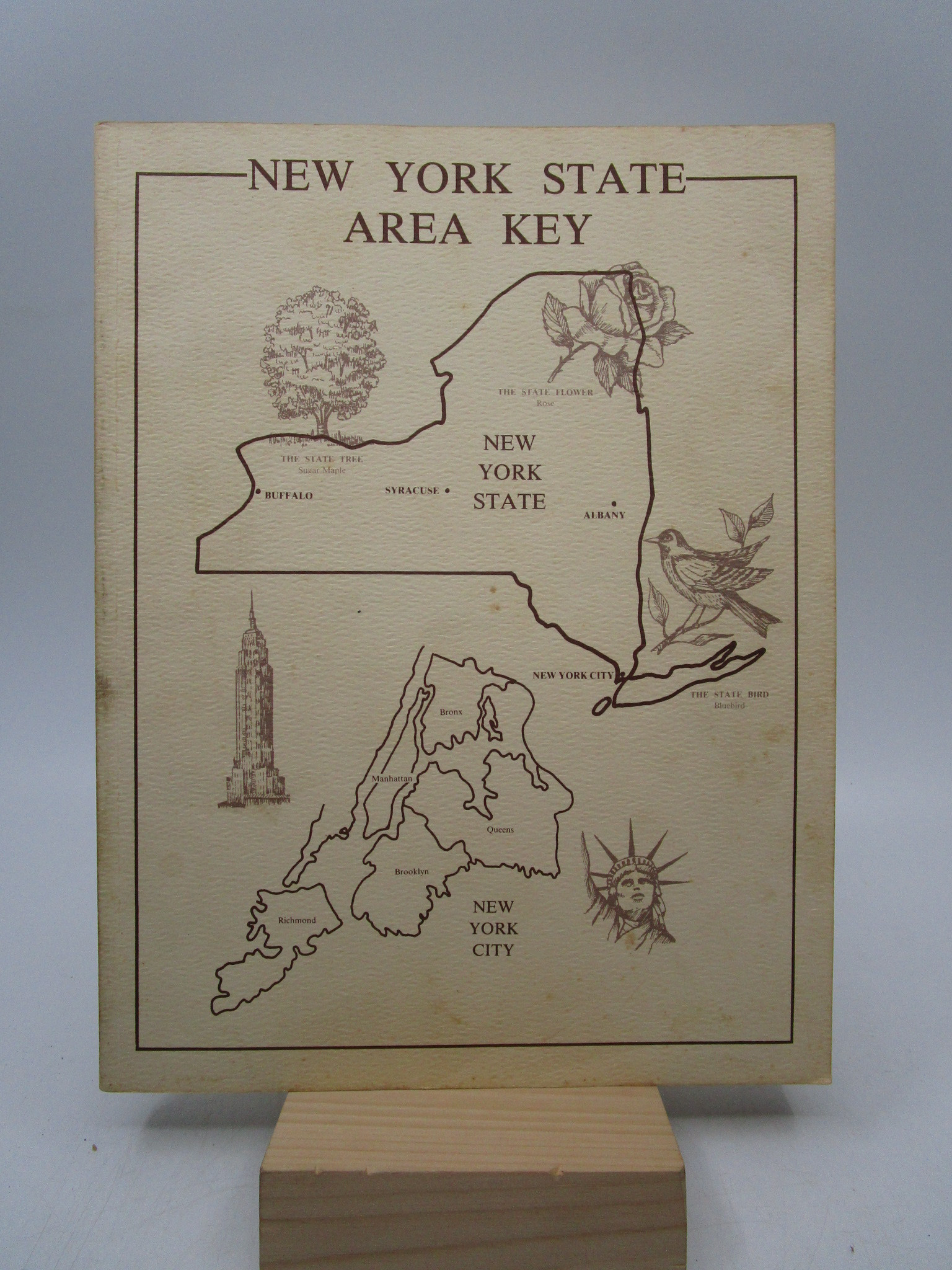 Image for New York Area Key: A Guide to the Genealogical Records of the State of New York including Maps, Histories, Charts, and other Helpful Materials (First Edition)