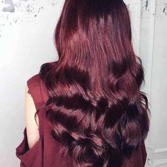 purp;e red -hair-color