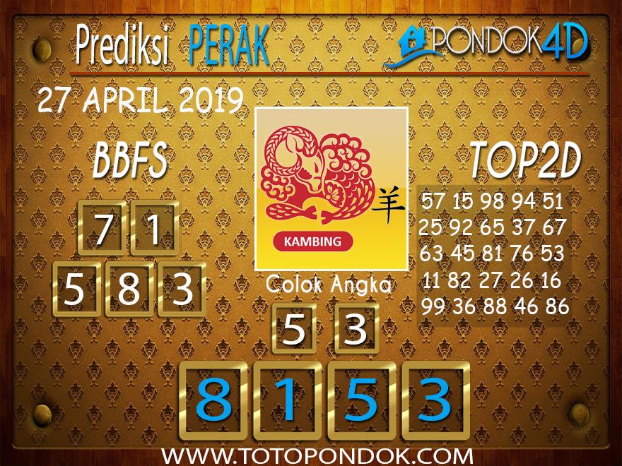 Prediksi Togel PERAK PONDOK4D 27 APRIL 2019