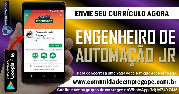 ENGENHEIRO DE AUTOMAÇÃO JR COM SALÁRIO DE R$ 4000,00 PARA SERVIÇOS TEMPORÁRIOS
