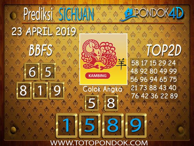 Prediksi Togel SICHUAN PONDOK4D 23 APRIL 2019