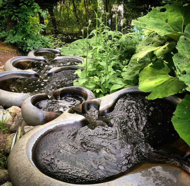 Flowform-Vattentrappa