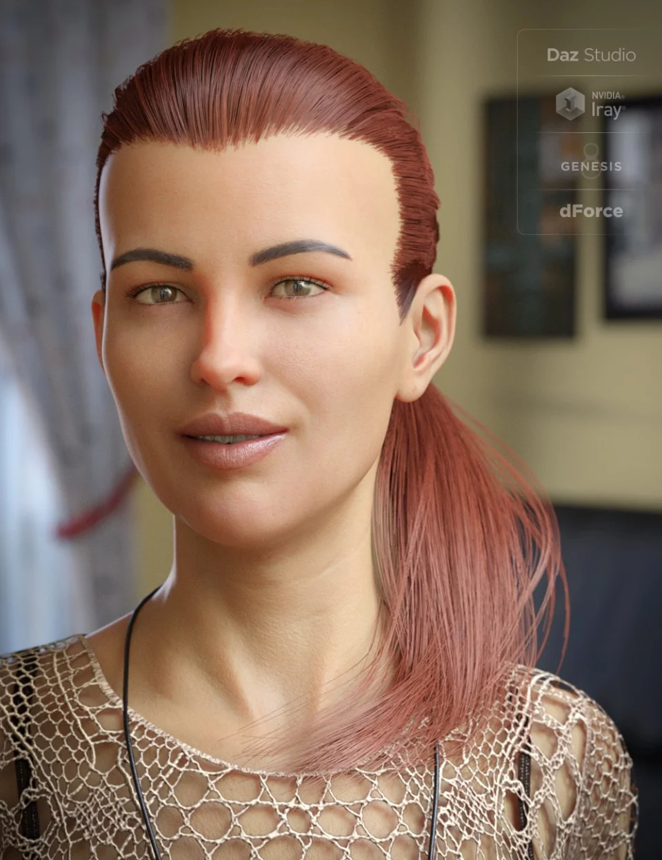 dForce Hair Elyssa Ponytail for Genesis 8 Female(s)