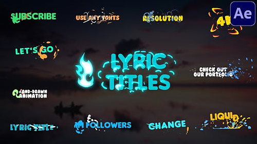Lyric Titles | After Effects 29492628 - After Effects Project & Script (Videohive)